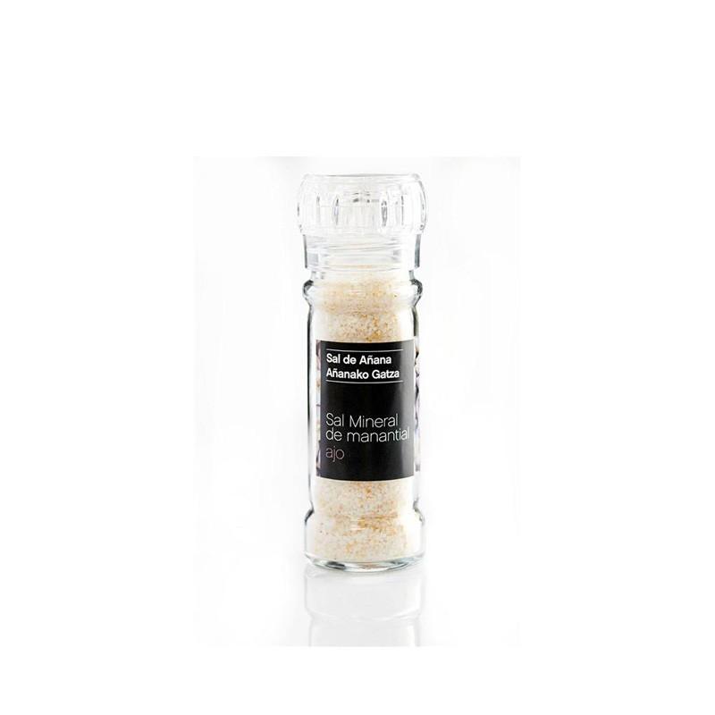 Molinillo de Sal Mineral de manantial con ajo 75 gr