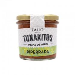 Tunakito (Hegaluzearen apurrak) Piperrada
